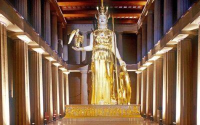 La estatua de oro pérdida del Partenón