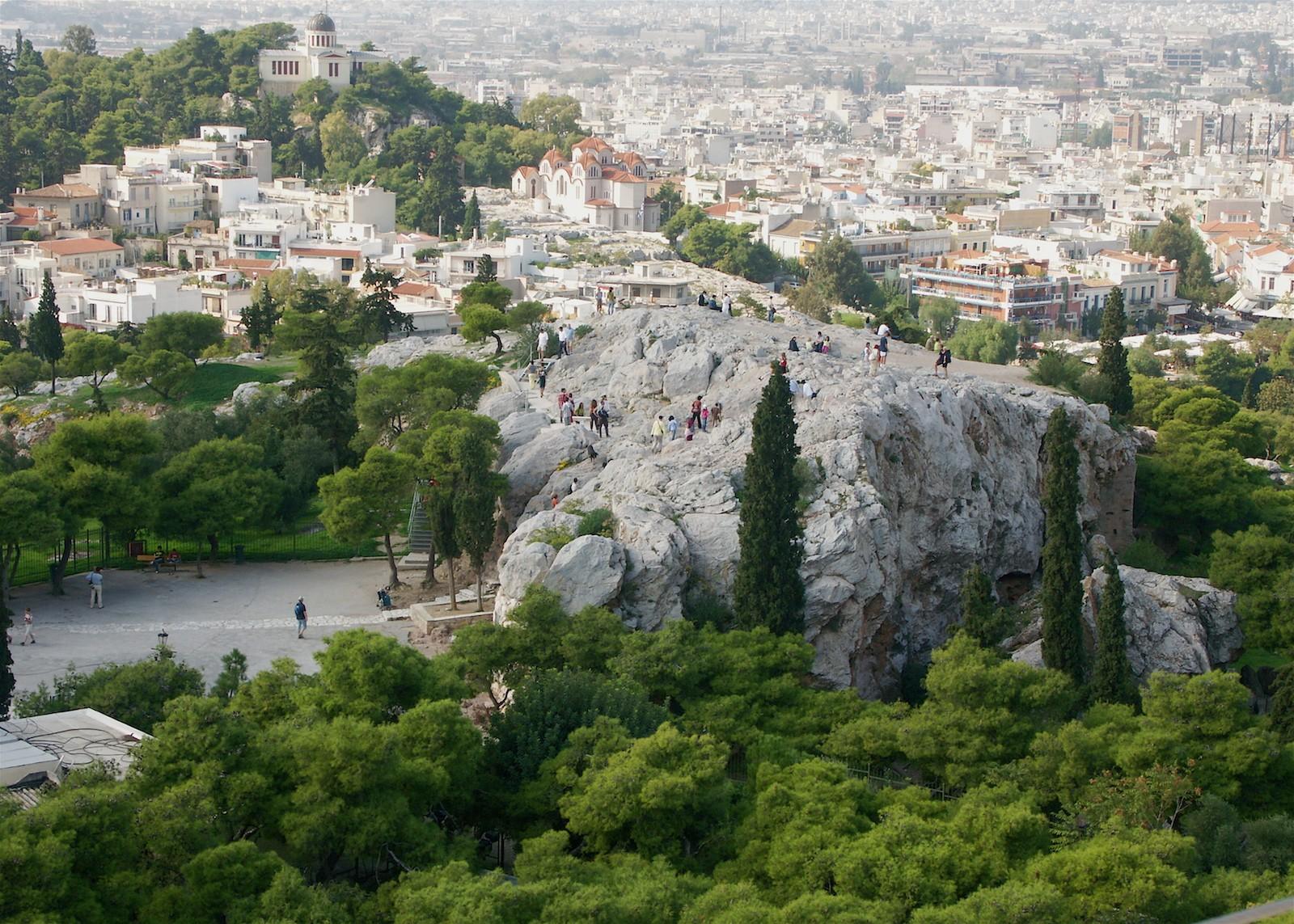 Aeropagos, colina de Atenas