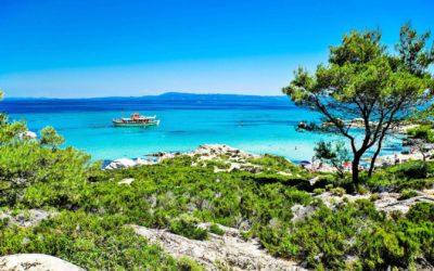 Halkidiki, montañas y mar